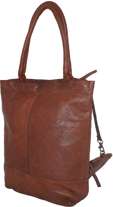 Cognac Etui Justified Shopper Leren Met GLzqSVUMp