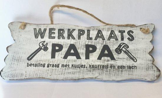 Bol Com Houten Tekstbord Woon Decoratie Cadeau Werkplaats Papa