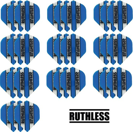 Dragon darts - 10 Sets (30 stuks) - Ruthless - sterke flights - Aqua - darts flights