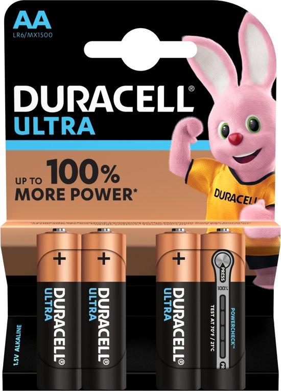 Duracell Ultra Power AA Alkaline Batterijen - 4 stuks