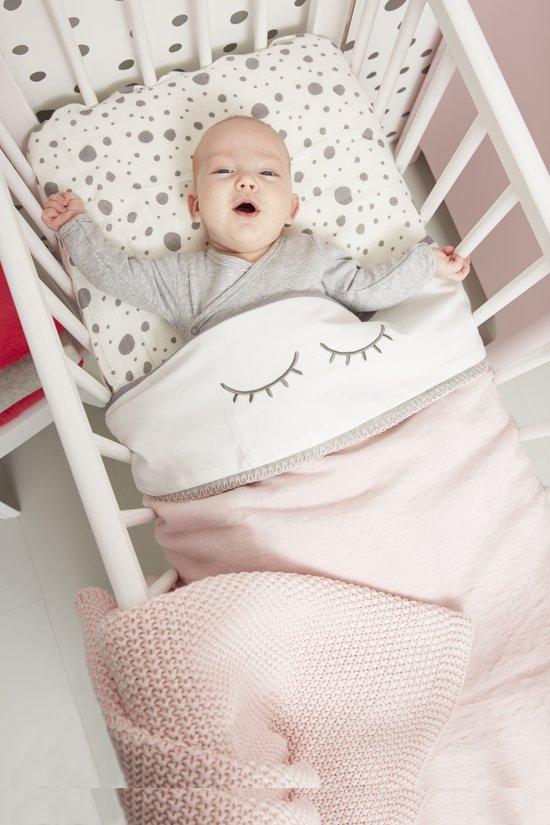Meyco ledikantlaken Sleepy eyes - 100 x 150 cm - grijs