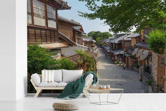 Fotobehang vinyl - Traditioneel Japans huis in het Aziatische Kioto breedte 540 cm x hoogte 360 cm - Foto print op behang (in 7 formaten beschikbaar)