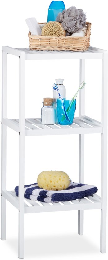 bol.com | relaxdays - badkamerrek bamboe - staand rek - keukenrek ...
