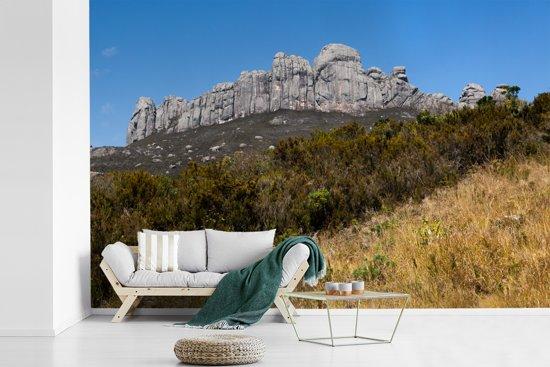Fotobehang vinyl - Uitzicht op de mooie bergen van het Nationaal park Andringitra breedte 450 cm x hoogte 300 cm - Foto print op behang (in 7 formaten beschikbaar)