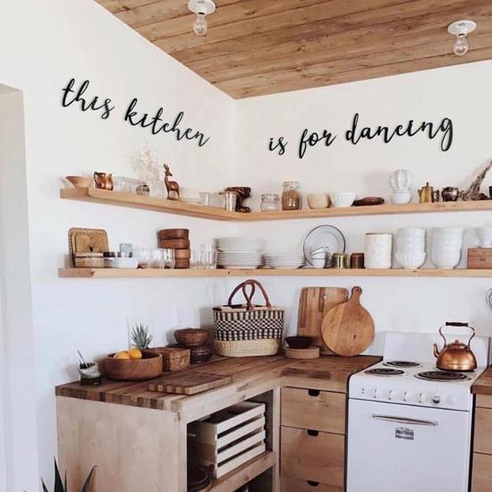 Aan De Muur Decoratie.Keuken Muur Decoratie This Kitchen Is For Dancing Muur Teksten En Citaten Metal Wall Quote By Hoagard 5 Delige Metalen Citaten Muur Kunst