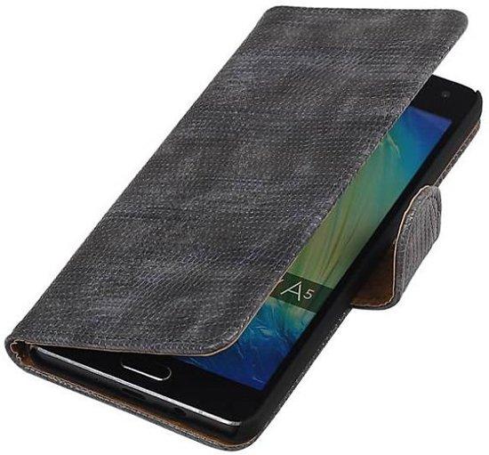Lézard Gris Boîtier De Type Livre De Design Pour Samsung Galaxy S8, Plus