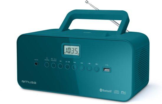 Muse M-30 BTB - Draagbare Radio/CD-speler met USB en bluetooth - blauw