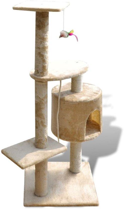 Krabpaal Tommie - 114 cm 1 huisje - Geel