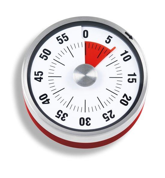ADE Kookwekker mechanisch - 60 minuten - rood