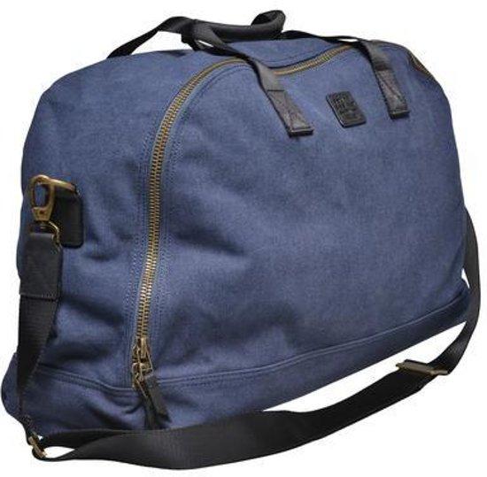 Blauwe Canvas Weekendtas Van Souve Bag Co