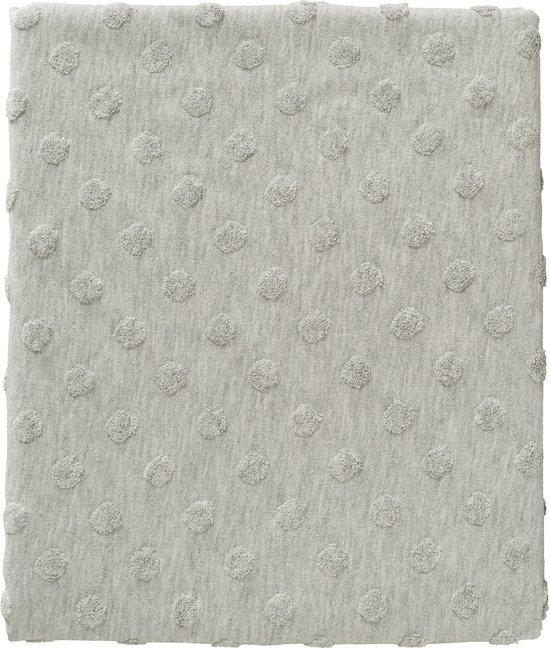 Cottonbaby Dekenhoes ledikant Dot 3d melee grijs