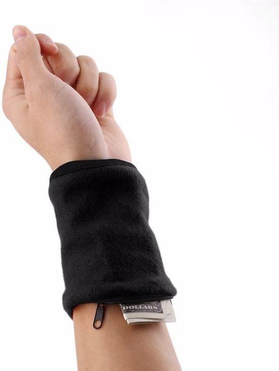 Pols Portemonnee - Wrist Wallet - Zweetband met rits - Hardlopen - Fietsen - Fitness - Reizen - Polsbandje