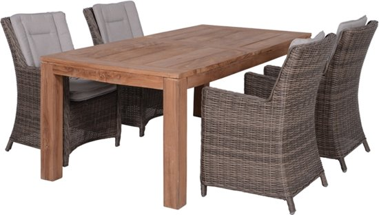 Tuinset Oxford Collection.Bol Com Garden Impressions Oxford 5 Delige Tuinset Tulsa Tafel