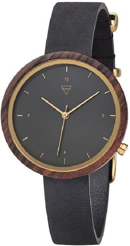 Kerbholz Hilde Sandalwood Horloge