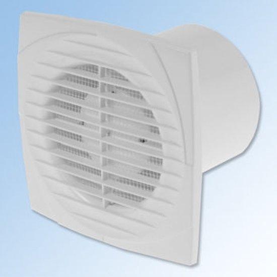 bol.com | Ventilator, axiaal 150, met timer, met vochtsensor, wit ...