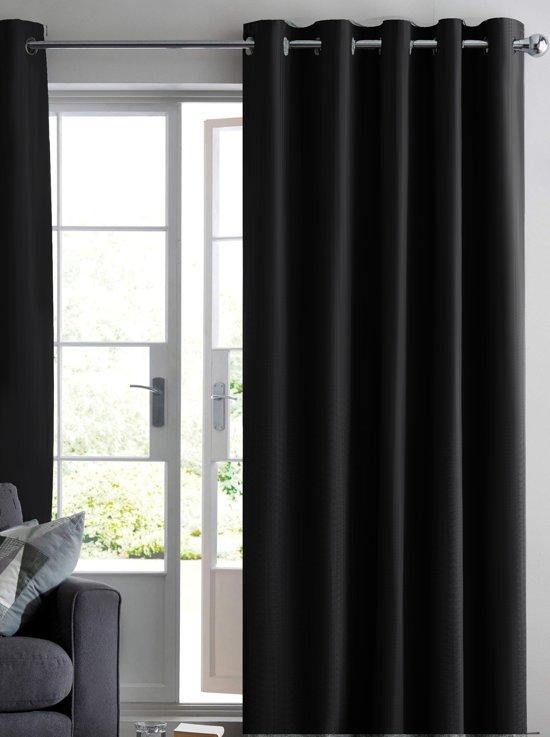ruben verduisterend gordijn zwart 150x250 cm kant en klaar met ringen