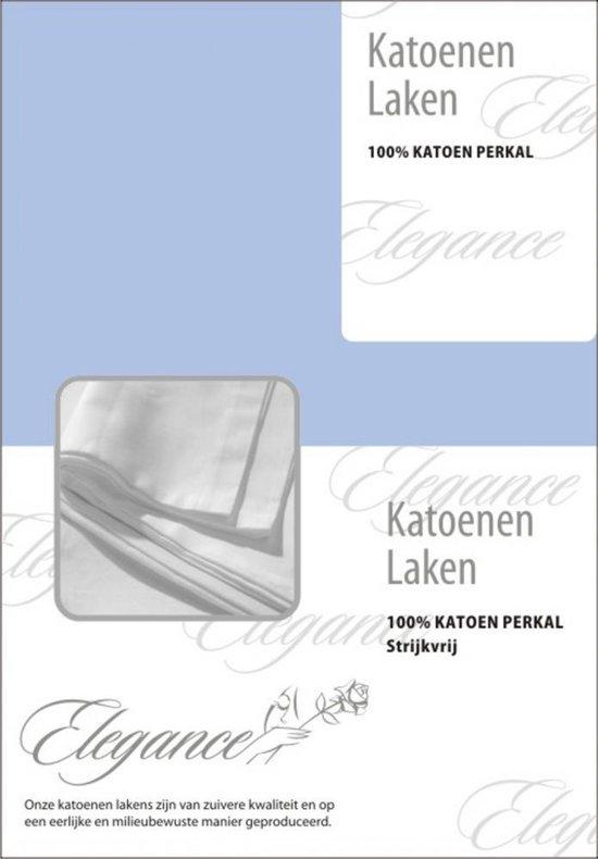 Laken Katoen Perkal - licht blauw 150x250