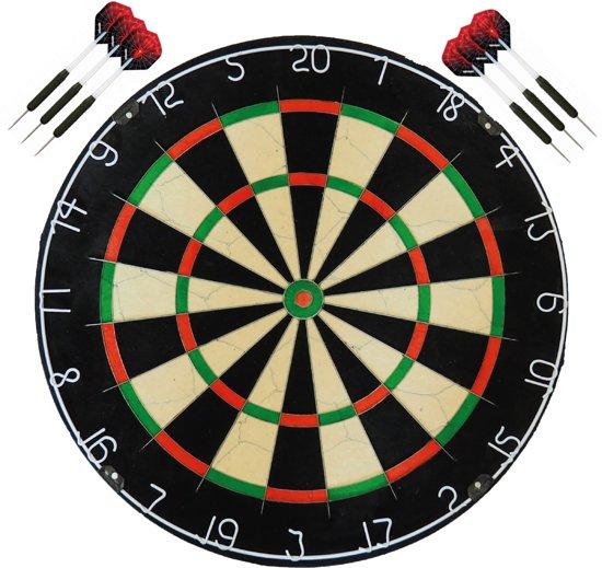 A-Merk BEST geteste plain bristle - dartbord - dartboard plus 2 sets - dartpijlen - Dragon darts