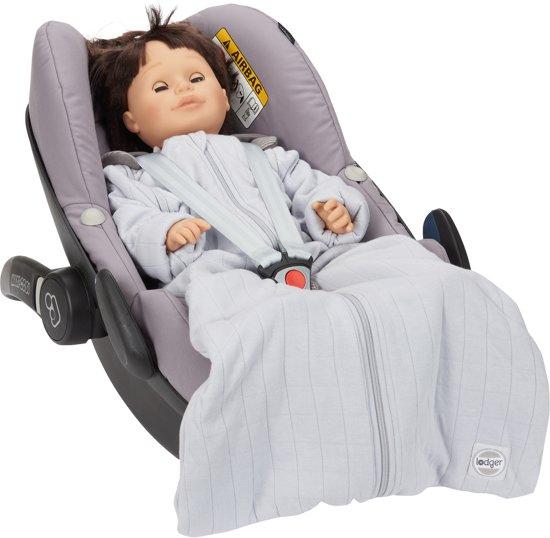 Lodger Baby slaapzak - Hopper Solid - Grijs - Lange mouw - 68/80