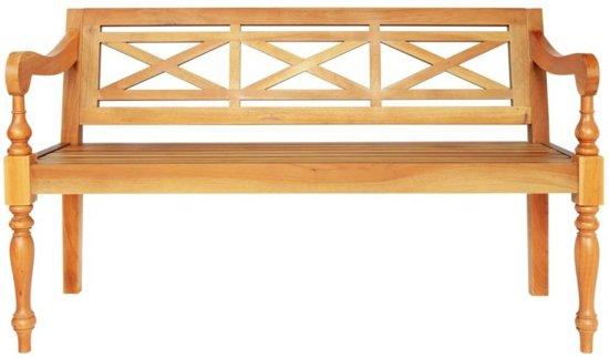 vidaXL Bank Batavia 136 cm massief mahoniehout lichtbruin