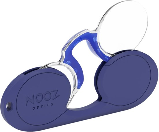 7be7ca31bc5a68 Nooz - Leesbril Zonder Poten - Blauw +1 Ovaal - Altijd bij u