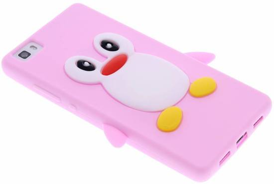 Pingouin Rose Étui En Silicone Pour Huawei Lite P8 kTNFP6