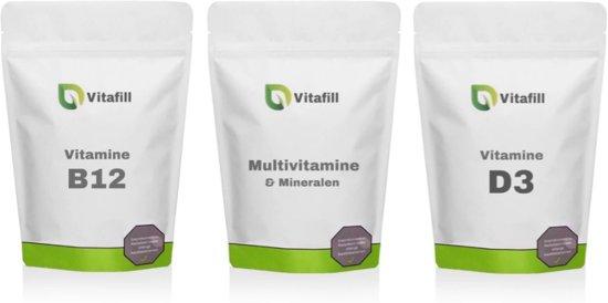 Vitaminepakket 50+ - Vitamine D3 + Vitamine B12 + Multivitamine & Mineralen
