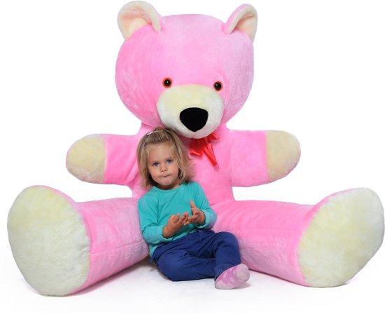 XXL teddybeer - roze - 170 cm