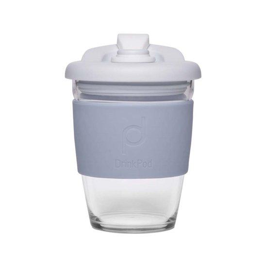 Herbuikbare Koffiebeker - 340ml - Winter White - Glas - Pioneer