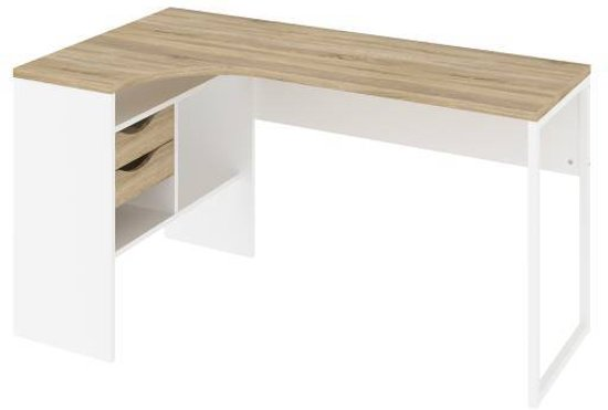 tvilum plus hoekbureau eiken decor. Black Bedroom Furniture Sets. Home Design Ideas