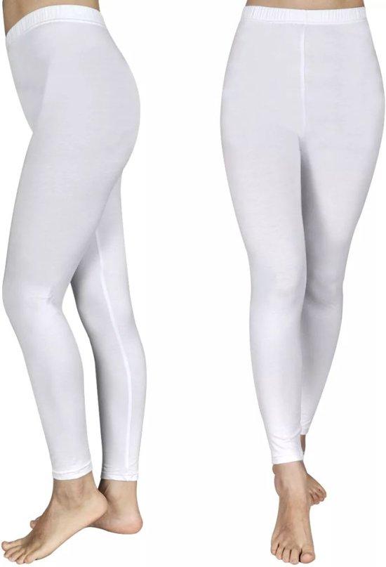 bol | legging voor meisjes maat 110/116 (wit) set van 2