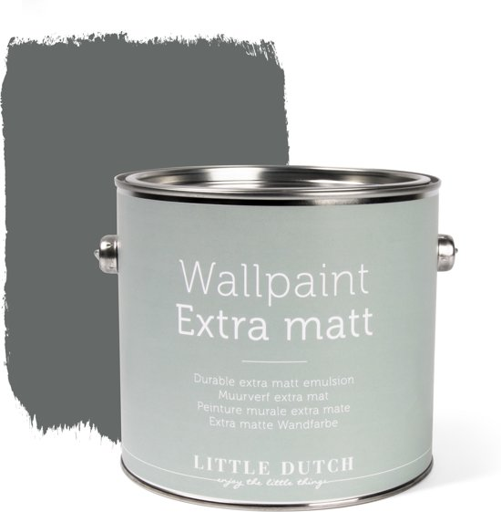 Little Dutch - Muurverf Mat - Vintage Grey - Grijs - 2,5 liter