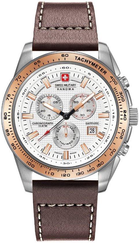 Swiss Military Hanowa 06-4225.04.001.09 horloge heren - bruin - edelstaal