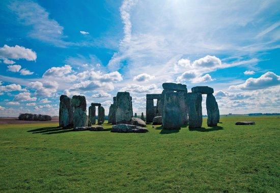Fotobehang Stonehenge Natur | PANORAMIC - 250cm x 104cm | 130g/m2 Vlies