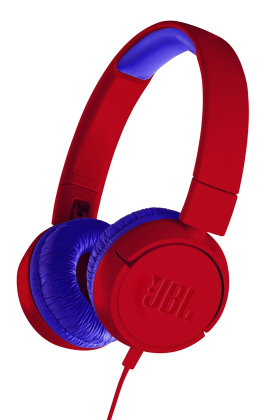 JBL JR300 Rood - On-ear kinder koptelefoon