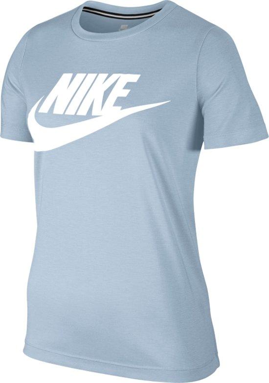 Nike Sportswear Essential Tee Hybrid - Sportshirt - Dames - Maat S - Licht  blauw