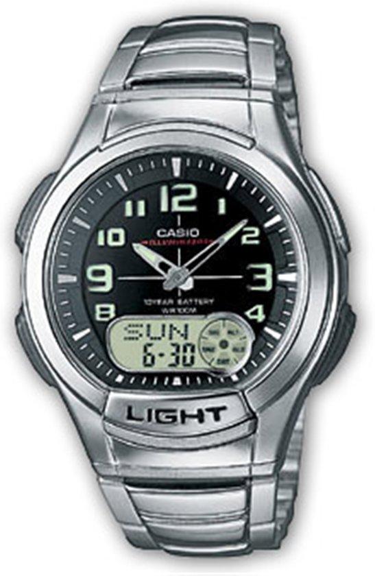 Casio AQ-180WD-1BVES - Horloge - 41 mm - Staal - Zilverkleurig