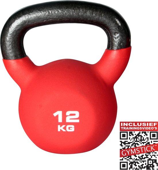 Gymstick Pro Neopreen - Kettlebell  - 12 kg - Met trainingsvideo's