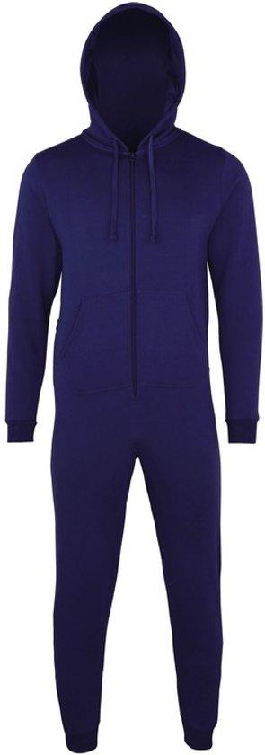 Warme onesie jumpsuit voor heren S/m Navy