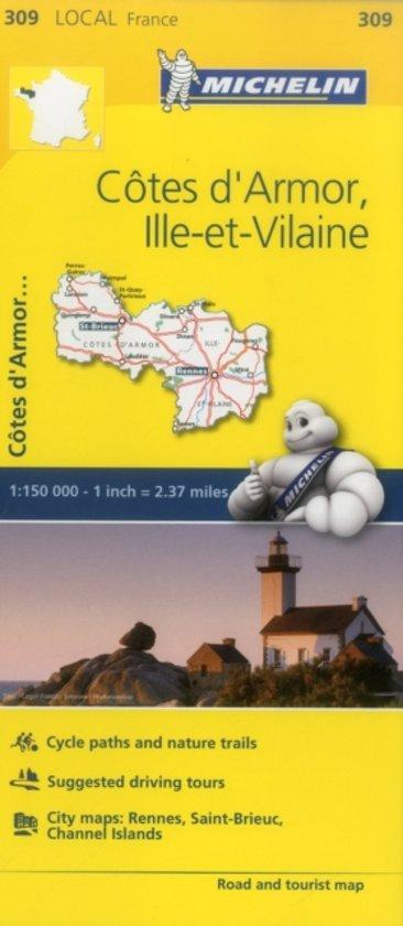 Cotes-d'Armor, Ille-et-Vilaine - Michelin Local Map 309