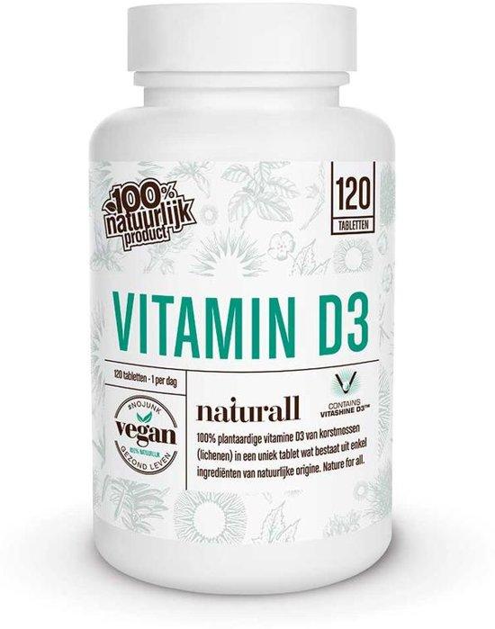 Naturall Vegan Vitamine D3 1000IU - 25 mcg - 120 tabletjes
