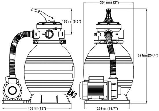 vidaXL - Zwembadreiniging Zandfilter met pomp 10 m³/u 90291