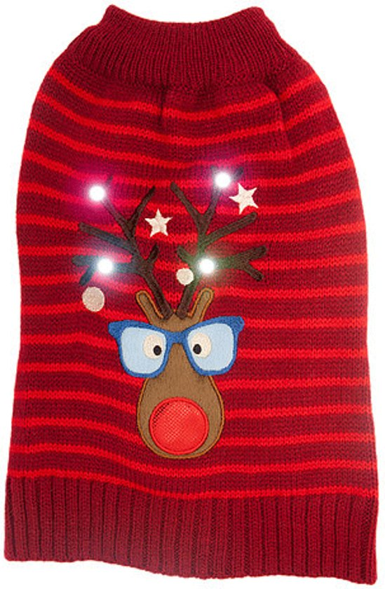 Kersttrui Hond.Bol Com Kerstkleding Rudolf Kersttrui Hond Met Lichtjes Xs