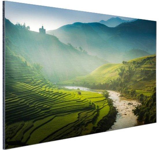 FotoCadeau.nl - Groene vlakte in Azie Aluminium 120x80 cm - Foto print op Aluminium (metaal wanddecoratie)