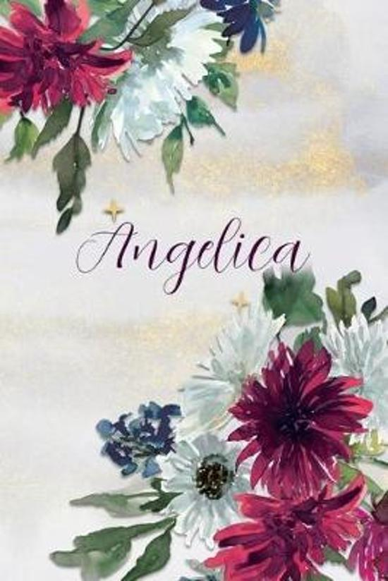 Angelica: Personalized Journal Gift Idea for Women (Burgundy and White Mums)