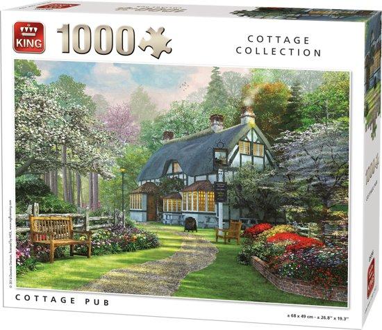 King Puzzel 1000 Stukjes (68 x 49 cm) - Cottage Pub - Legpuzzel - Cottage - Volwassenen