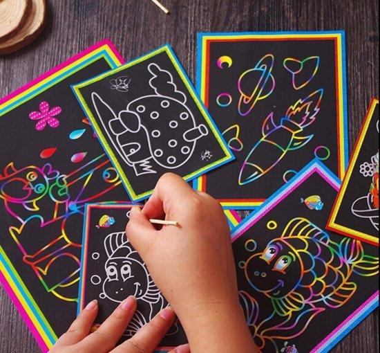 Kleurplaten Carnaval A4.Kras Tekeningen Kleurplaten In 1 Assortiment 20 Stuks