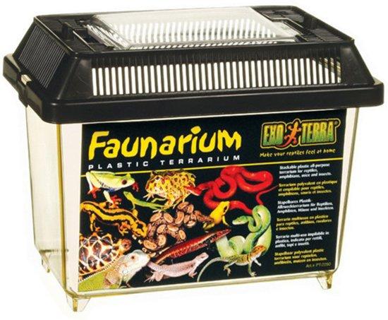 Exo Terra - Terrarium Faunarium Mini Zwart - 18x11x12.5 cm