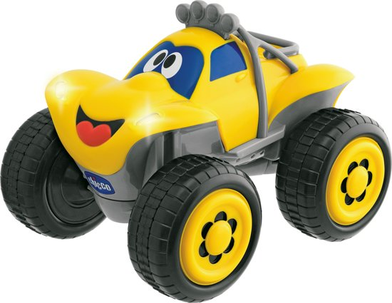 Bolcom Chicco Billy Big Wheels Bestuurbare Auto Geel Tiamo