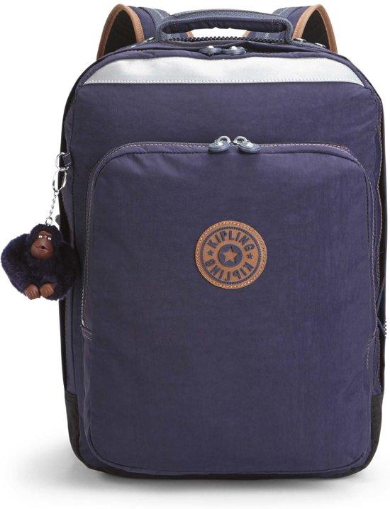 1bf9af725ee bol.com | Kipling College Up Laptop Rugzak - Kinderen - Blue Tan Block